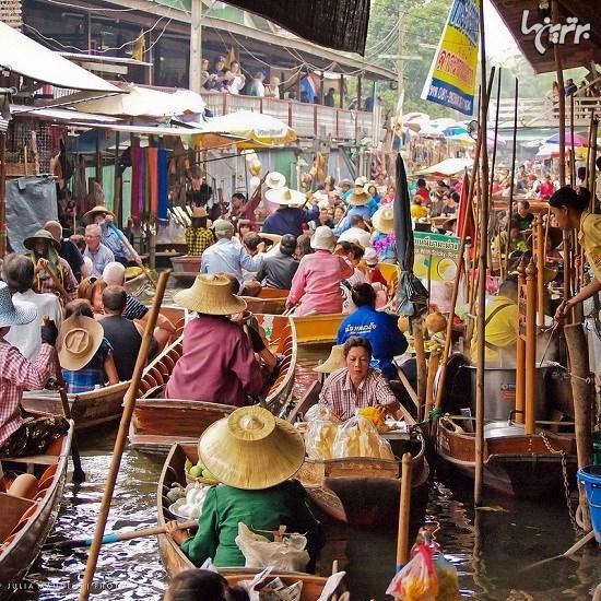 بازارهای شناور در جنوب شرقی آسیا