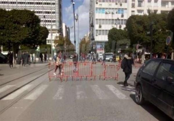 درگیری نیروهای امنیتی تونس با معترضان