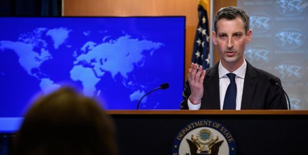 واشنگتن: گریفیتس هیچ پیامی از آمریکا به ایران منتقل نکرده است