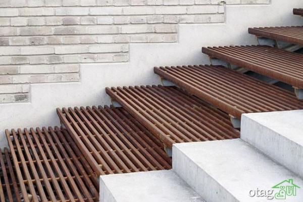 مدل راه پله حیاط به ایوان خانه با طراحی نو و بروز